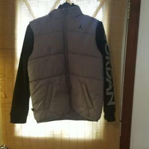 Brand New Boys Jordan Coat With Hood